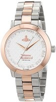 Vivienne Westwood Women's Quartz Watch with White Dial Analogue Display and Grey Stainless Steel Bracelet VV152SRSSL