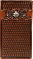 Ariat Tan Rodeo Tooled Concho Leather wallet