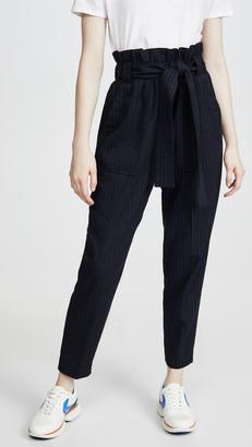Stateside Paperbag Pinstripe Pants