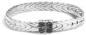 John Hardy Sterling Silver Modern Chain Bracelet with Black Spinel
