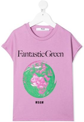 Msgm Kids graphic print short-sleeved T-shirt