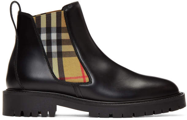 Burberry Black Allostock Chelsea Boots