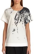 Piazza Sempione Hand-Painted Cotton Tunic