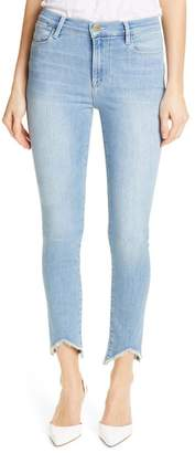 Frame Le High Triangle Hem Ankle Skinny Jeans