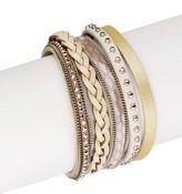 Saachi Cream Savanna Genuine Leather Bracelet