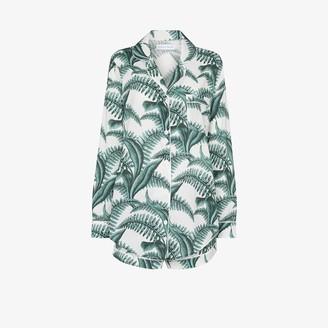 Desmond & Dempsey Fern Print Cotton Pyjama Set