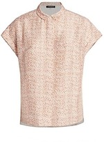 Thumbnail for your product : Lafayette 148 New York, Plus Size Blaine Cloud Printed Blouse
