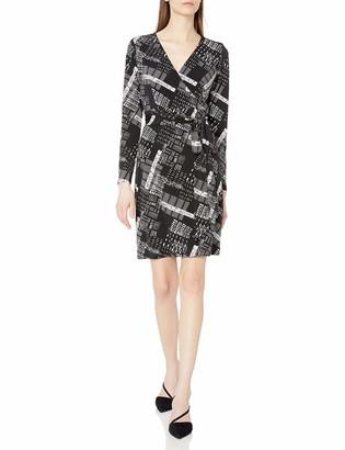 Lark & Ro Women's Long Sleeve Faux Wrap Dress