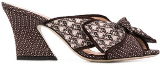Fendi FFreedom embroidered mules