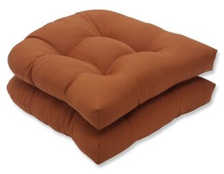 Pillow Perfect Cinnabar Indoor/Outdoor Seat Cushion Pillow Perfect