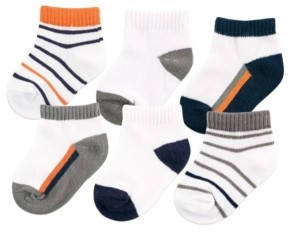 Yoga Sprout No-Show Ankle Socks, 6-Pack, 0-24 Months