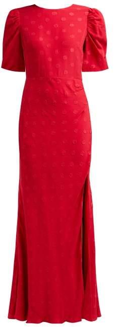 Saloni Annie B Silk Dress - Womens - Red Multi