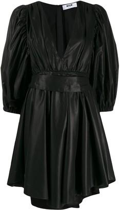 MSGM puff-sleeve mini dress