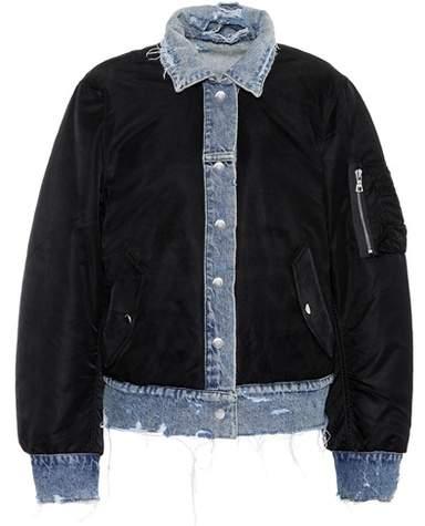 Amiri Reversible denim bomber jacket