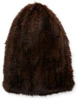Surell Knit Mink Fur Slouch Beanie