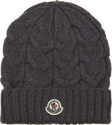 Moncler Cable knitted wool beanie