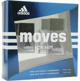 adidas MOVES by Gift Set for MEN: EDT SPRAY 1 OZ & EDT SPRAY .5 OZ