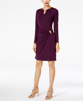 Thalia Sodi Embellished Faux-Wrap Dress, Created for Macy's