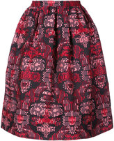 Oscar de la Renta jacquard skirt - women - Silk/Polyester/Polyimide - 2