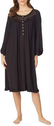 Eileen West Waltz Knit Long-Sleeve Nightgown