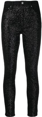 Alice + Olivia Crystal Embellished Skinny Jeans