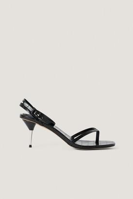 NA-KD Metal Heel Strappy Heels