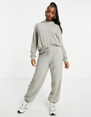 NA-KD organic cotton joggers in grey