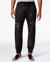 GUESS Men's Chintz Embroidered Jogger Pants