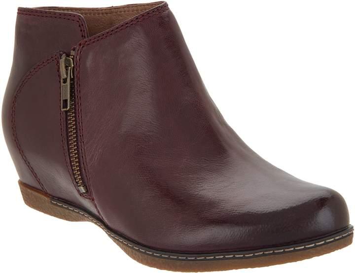 Dansko Leather Wedge Ankle Boots - Leyla