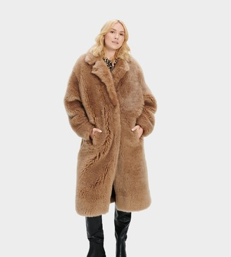 UGG Esme Long Shearling Coat