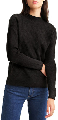 Belle & Bloom So Fluffy Black Diamond Stitch Jumper