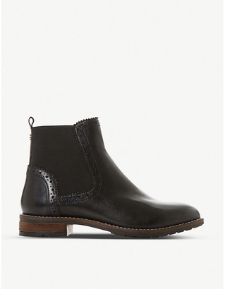Dune Quant brogue-detail leather Chelsea boots