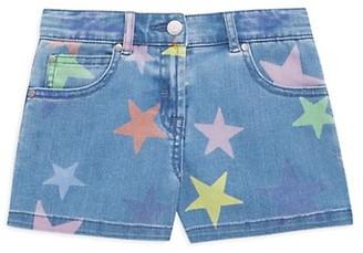 Stella McCartney Kids Little Girl's & Girl's Denim Star Shorts