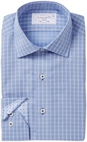 Lorenzo Uomo Box Check Trim Fit Dress Shirt
