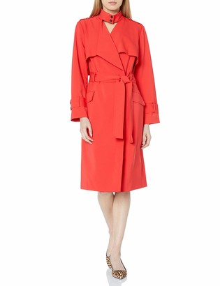 Halston Women's Suiting Trench Coat