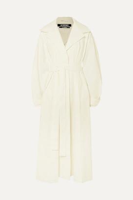 Jacquemus Claudia Linen Trench Coat - White