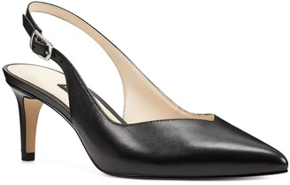 Nine West Sonia Women's Leather Slingback Pumps