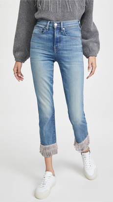 Veronica Beard Jeans Ryleigh Pants with Fringe Rhinestone