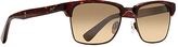 Maui Jim Gold Tortoise & Bronze Browline Sunglasses - Women