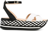 Hogan wedge sandals - women - Leather/Patent Leather/rubber - 35