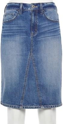 So Juniors' Yoke Front Midi Skirt