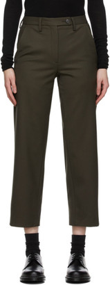 6397 Khaki Wool Relaxed Trousers
