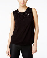 GUESS Chiara Tonal Beaded Top