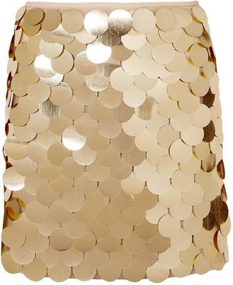 Sara Battaglia Sequined Tulle Mini Skirt