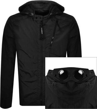 C.P. Company Long Sleeved Full Zip Overshirt Black