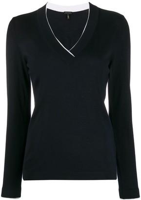 Escada slim-fit V-neck pullover