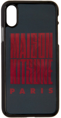 MAISON KITSUNÉ Black Holo Wavy MK iPhone X Case