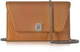 Akris Anouk Cuoio Pebbled Leather Clutch w/Chain