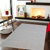 Cornermill Link Handwoven Wool Rug, Dulton Ivory 160x230cm