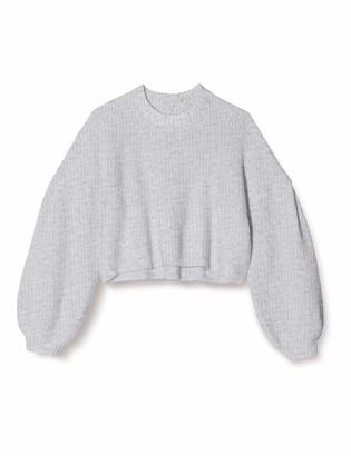 Find. Amazon Brand Women's Tie Back Jumper with Balloon Sleeves